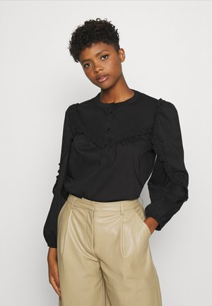 JDYENYA PLACKET PUFF - Blouse - black