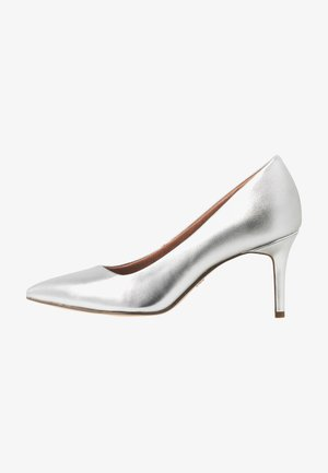 COURT SHOE - Tacones - silver