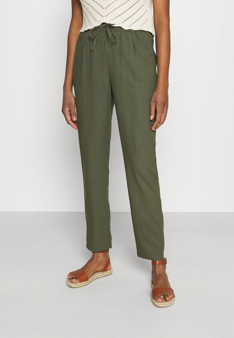 Vero Moda - VMASTIMILO ANKLE PANTS - Kalhoty - kalamata