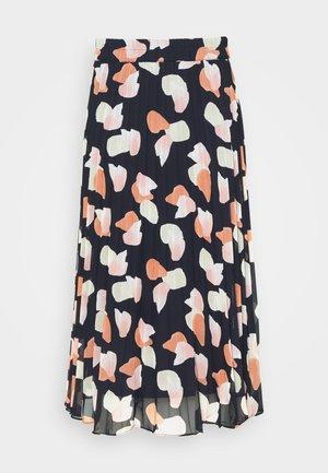 LAURA PLISSÉ SKIRT - Pleated skirt - blue dark/rosefeathers