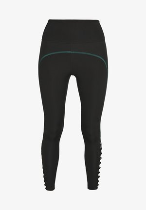 STRAP LEGGING - Tights - black