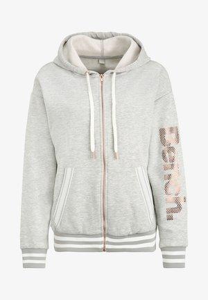 Zip-up sweatshirt - grau-meliert