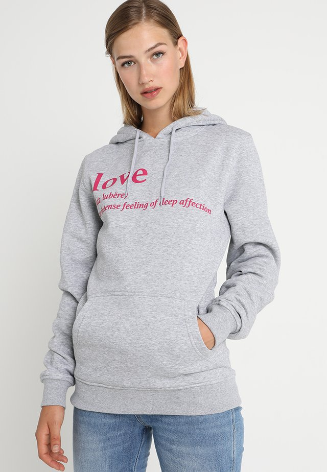 LOVE DEFINITION HOODY - Hoodie - grey heather
