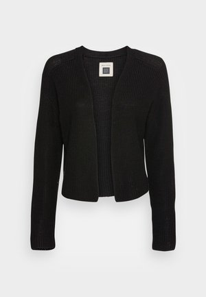 CARDIGAN LONGSLEEVE ROUND NECK - Vest - dusty black