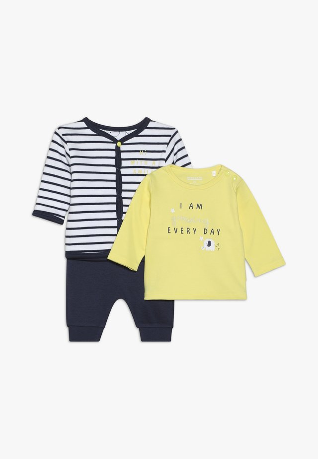 SET - Mikina na zip - dark blue/yellow