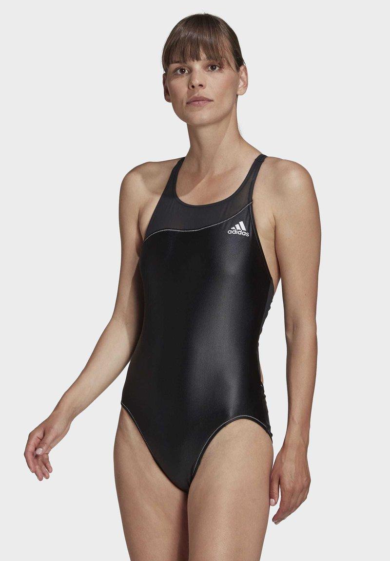 adidas Performance - GLAM-ON SHINY SWIMSUIT - Swimsuit - black