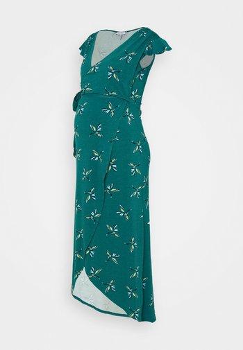 ADELAIDE - Sukienka z dżerseju - green /blue birds