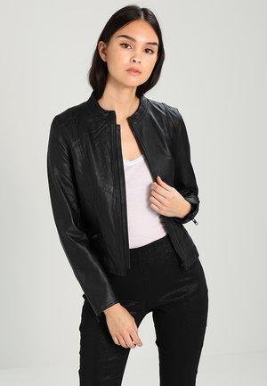 SFHANNAH  - Leather jacket - black