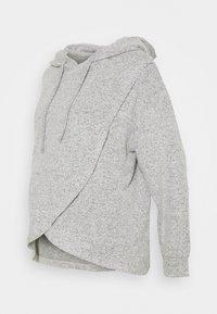 Lindex - NIGHT WRAP MOA - Pyjama top - grey melange - 0