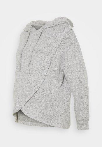 NIGHT WRAP MOA - Pyjama top - grey melange