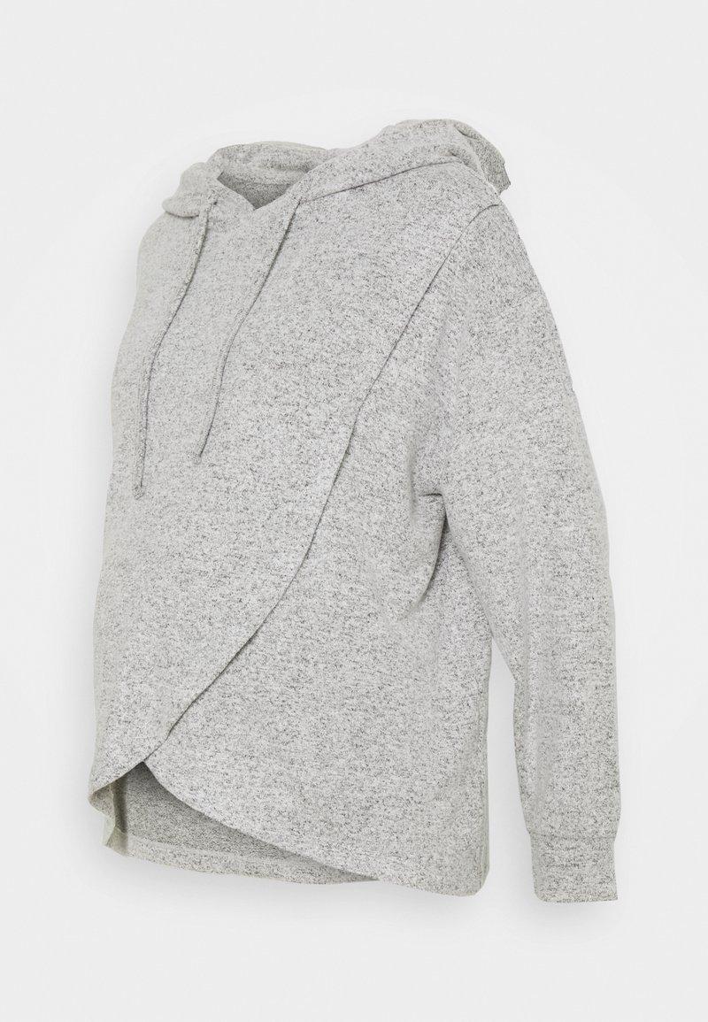 Lindex - NIGHT WRAP MOA - Pyjama top - grey melange