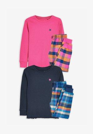 CHECK BOTTOM - Pyjama set - pink