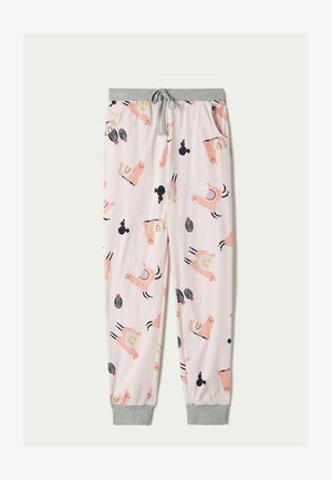 WONDERFUL - Pyjama bottoms - pink me llama print
