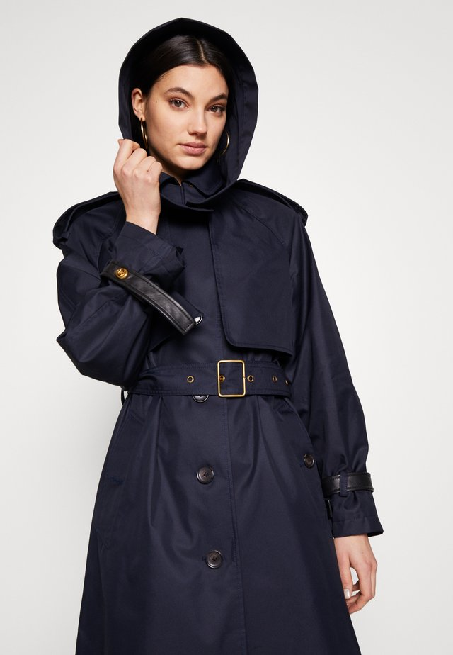 HOODED - Trenchcoat - raven blue