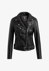 BTFCPH - EMMA - Leather jacket - black silver - 3