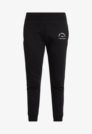 ADDRESS LOGO TRACK PANTS - Pantalon de survêtement - black