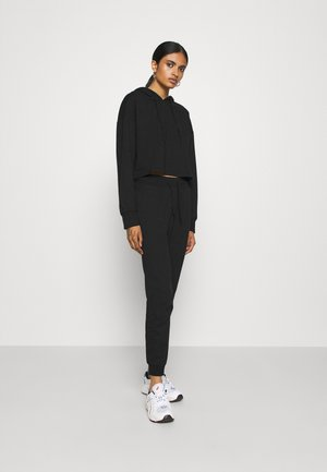 Set - Cropped Hoodie and Jogger - Tracksuit bottoms - black