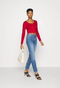 Monki - ALIANA CARDIGAN - Cardigan - red - 1