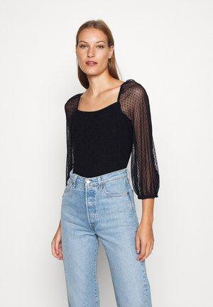 DOBBY - T-shirt à manches longues - black