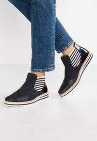 Rieker - Ankle boots - nightblue/pazifik/marine/beige/navy - 0