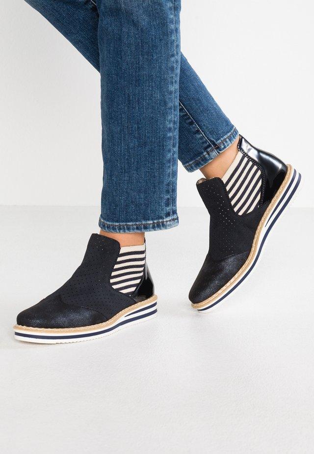 Boots à talons - nightblue/pazifik/marine/beige/navy