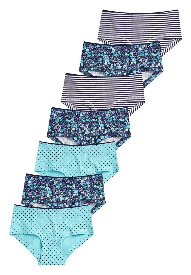 7 PACK FLORAL HIPSTER BRIEFS - Briefs - blue