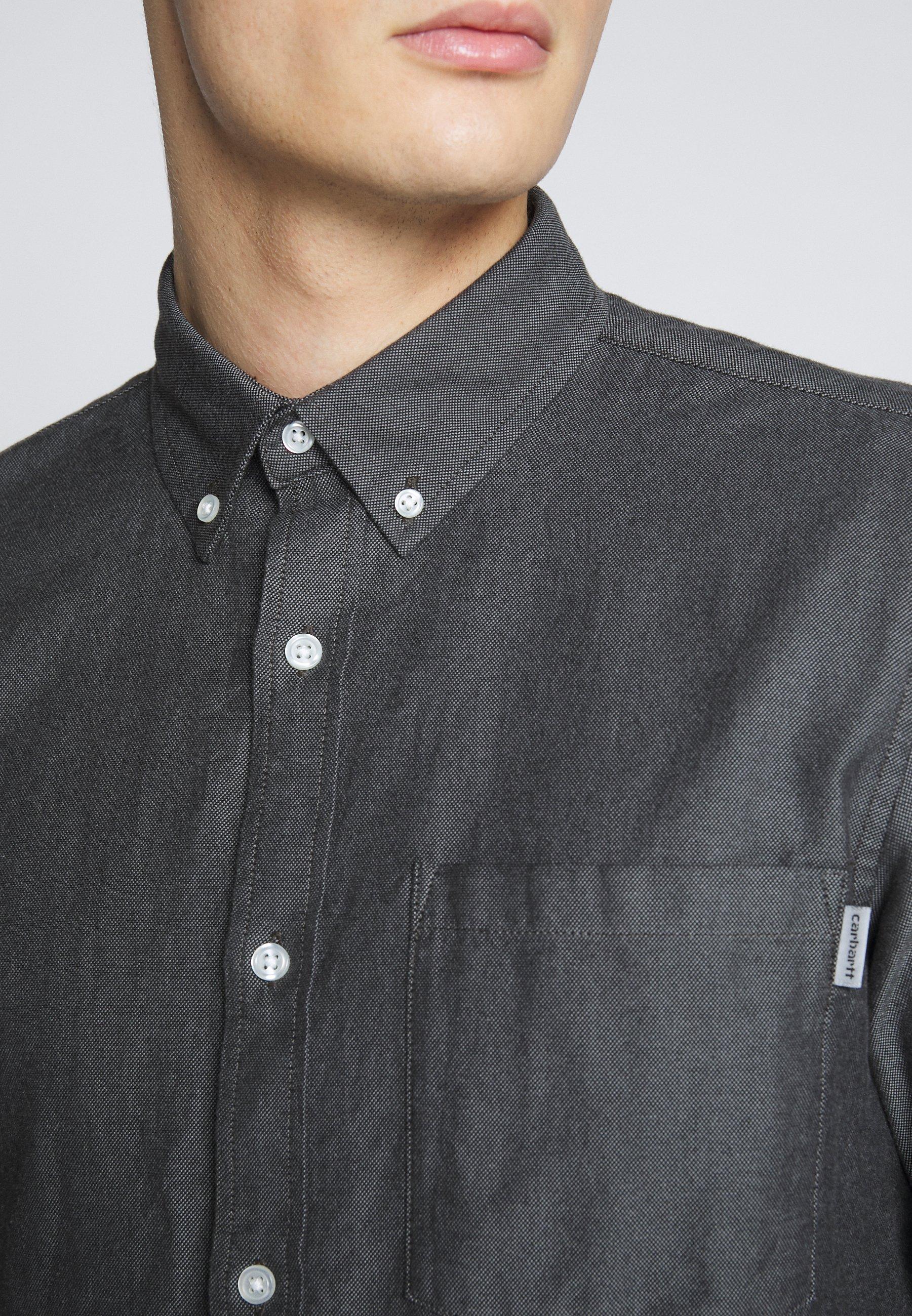 Carhartt WIP DALTON - Skjorte - black/shiver heavy rinsed
