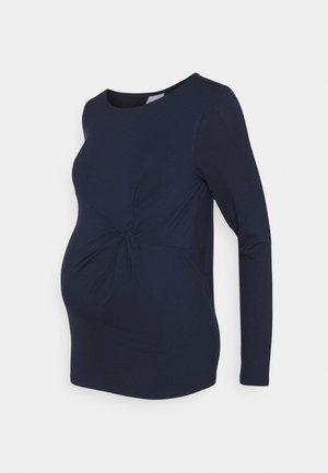 MLKARELY TOP - Top sdlouhým rukávem - navy blazer