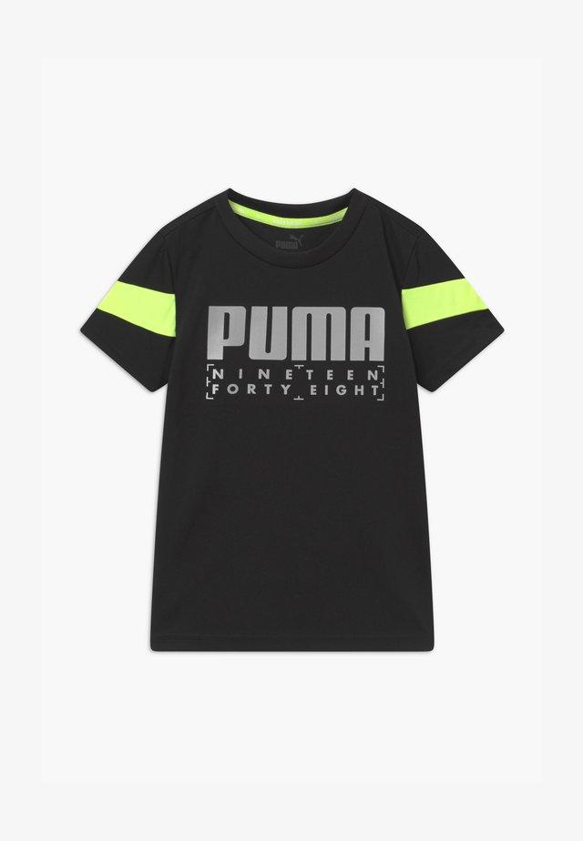 ACTIVE SPORTS POLY TEE UNISEX - T-shirt imprimé - black