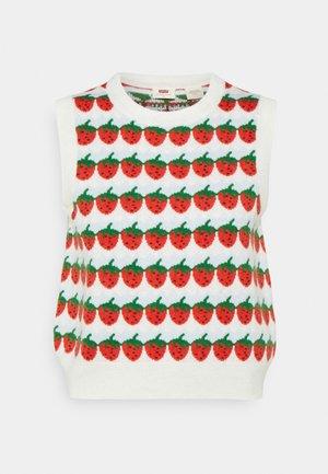 SWEETIE VEST - Pullover - strawberries cloud dancer