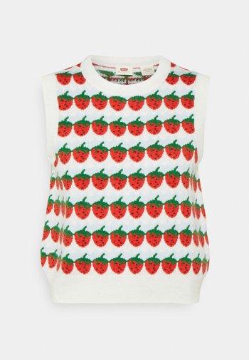 SWEETIE VEST - Jumper - strawberries cloud dancer