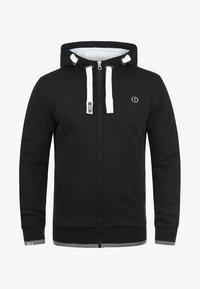 Solid - BenjaminZip Pile - Zip-up hoodie - black pil - 3