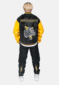 SEXFORSAINTS - ANTI-HERO VARSITY - Faux leather jacket - metallic black - 4