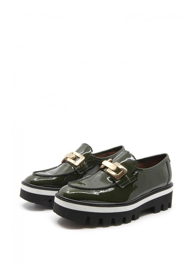 REFLECT - Casual lace-ups - verde oscuro