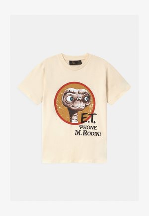E.T. UNISEX - T-shirt print - offwhite