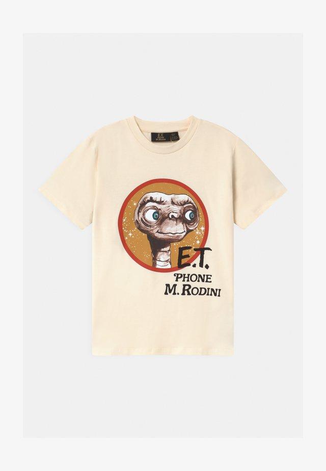 E.T. UNISEX - Print T-shirt - offwhite