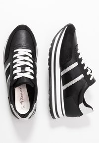 Tamaris - LACE UP - Trainers - black/silver - 3