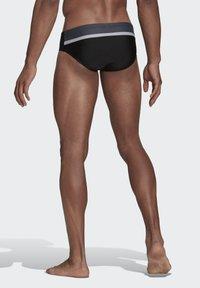 adidas Performance - COLORBLOCK TAPERED SWIM TRUNKS - Swimming trunks - black - 1