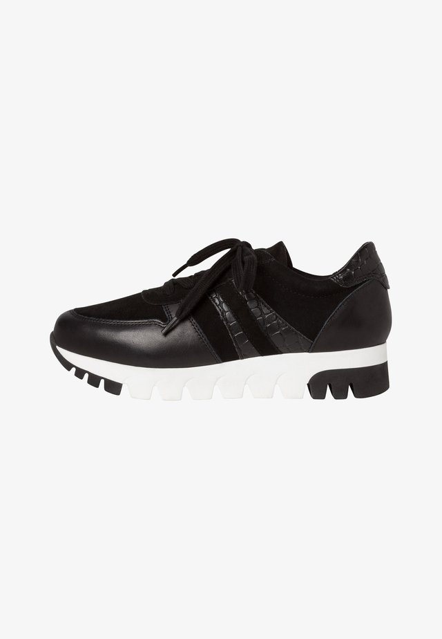 LACE UP - Sneakers laag - black lea.comb