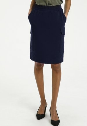 Pencil skirt - midnight marine