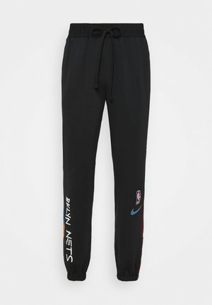 NBA BROOKLYN NETS CITY EDITON THERMAFLEX PANT - Verryttelyhousut - black/soar
