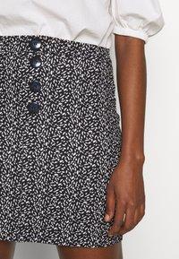 Dorothy Perkins - PRINT MINI - A-line skirt - black - 4