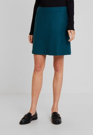 SHORT SKIRT FEMININE CUTLINES - A-line skirt - dusky emerald