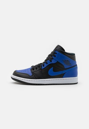 AIR JORDAN 1 MID - Zapatillas altas - black/hyper royal/white