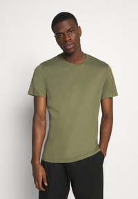 Burton Menswear London - 3 PACK - Basic T-shirt - khaki - 3