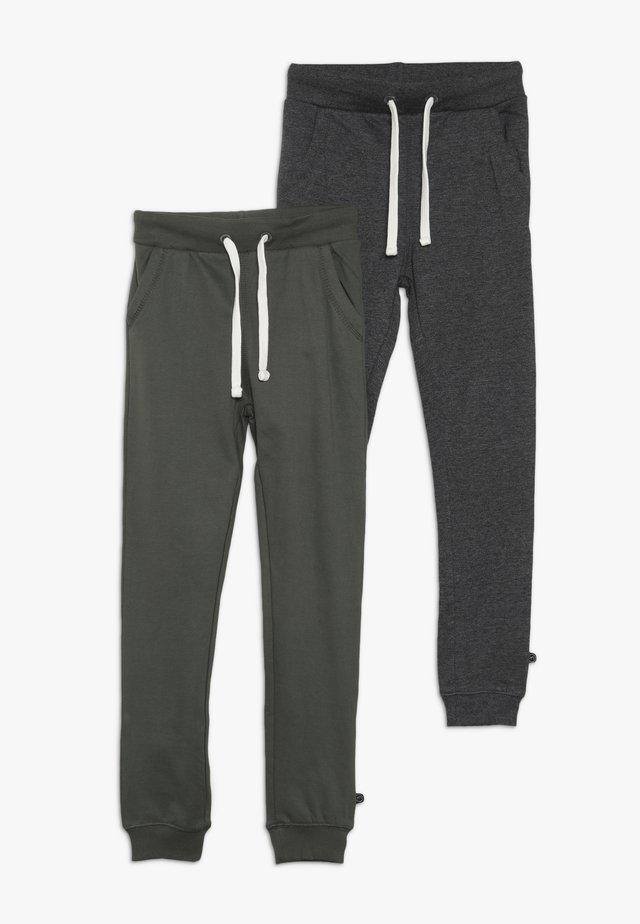 BASIC 2 PACK  - Tracksuit bottoms - beetle