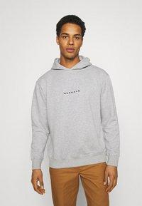 Mennace - ESSENTIAL REGULAR HOODIE UNISEX - Sweatshirt - grey marl - 0