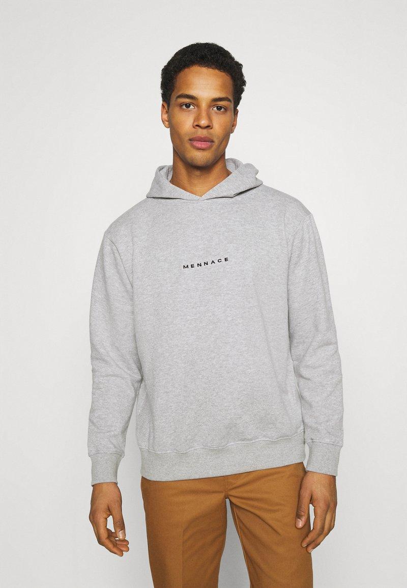 Mennace - ESSENTIAL REGULAR HOODIE UNISEX - Sweatshirt - grey marl