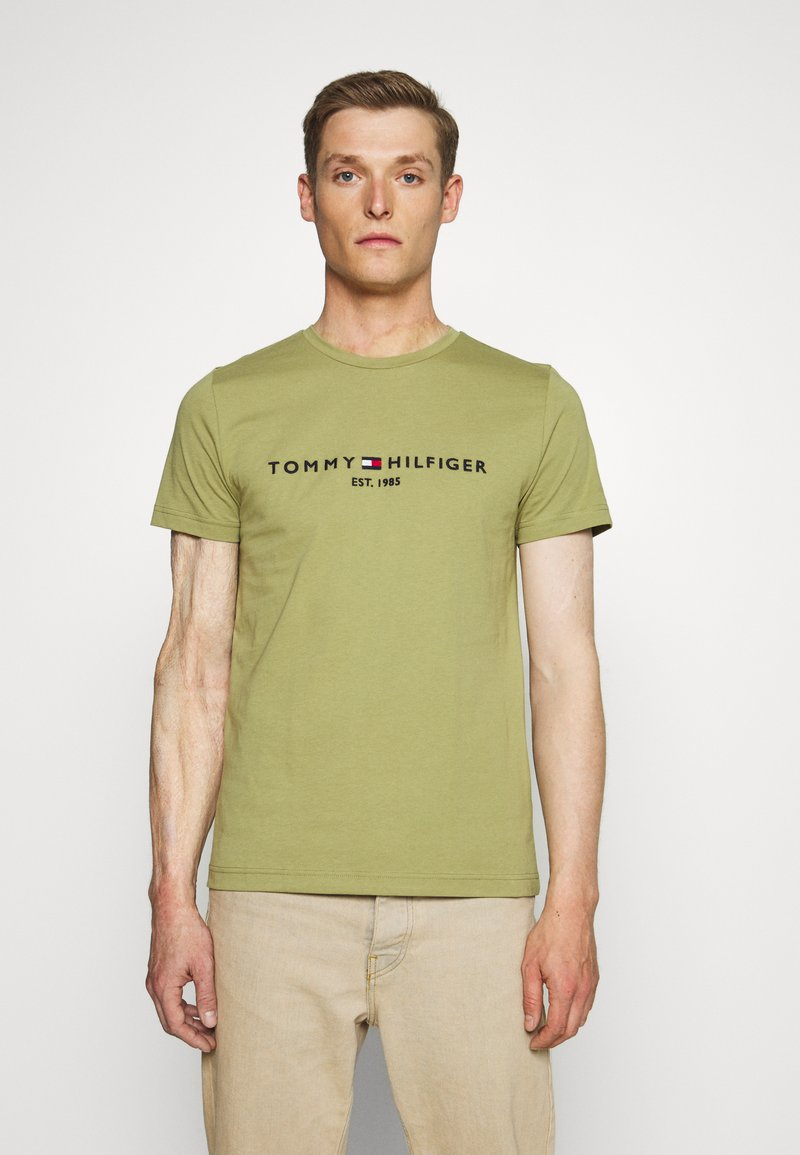 Tommy Hilfiger - LOGO TEE - T-shirt con stampa - green