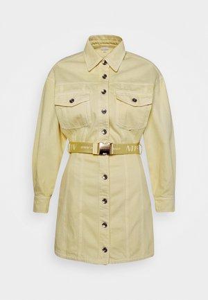 Denim dress - yellow